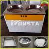 high power 1800W double pan fried ice cream machine and 220V 50Hz fry ice machine&ice pan machine\ freeze milk maker