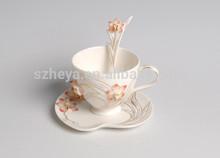 Flange porcelain 3 PCS tea and coffee set