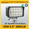 High power car accessory 45w led tractor working lights