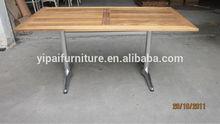 cheap folding rectangular/oblong shape table outdoor wooden table YT26A