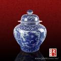 de luxo de estilo antigo grande tall porcelana azul e branca frascos de gengibre