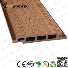 Wood plastic outdoor decorative wall panel
