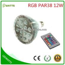 12w rgb par38 color changing led light bulb
