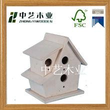 2014 new eco- friendly handmade wooden bird house