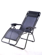 Sling folding recliner zero gravity chair with adjustable backrest