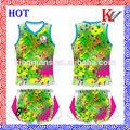 no hay moq el servicio del oem de diseño colorido de voleibol uniforme para las mujeres