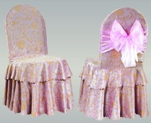 polyester chair cover with organza sash for sale