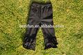 Venta al por mayor de bebé niña negro de punto de algodón de triple- volantes- los niños pantalones pantalones volante