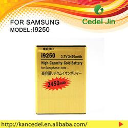 spare parts for samsung galaxy nexus Galaxy Nexus3 I9250 I515 I577 2450mAh 3.7v gold battery