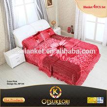 OTSU KEORI 100% Polyester Bed Sheet and Blanket Factory China