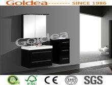 Hot sale black wall mounted wooden bathroom furniture