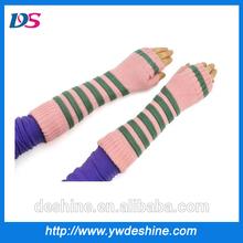 wholesale colorful women fingerless long gloves ST177