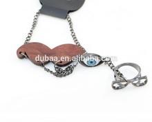 Mustache + Evil Eye Bracelet with Glasses Ring Alloy Bracelets Ring for Women