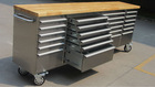 kraftwelle germany tool trolley with 24 drawers / stainless steel