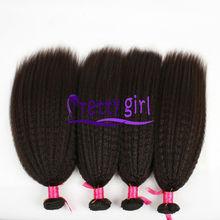100% Unprocessed Cheapest Brazilian Remy Kinky Straight Coarse Yaki Virgin Hair