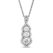 three stone past present future pendant necklace love jewelry