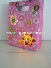 custom led logo design paper packaging bag