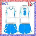ventas al por mayor del oem diseño popular sublimada uniforme de voleibol