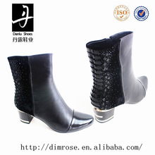 GB1120-6-A2859 ladies boots 2014 cotton fabric lining leather upper high heels