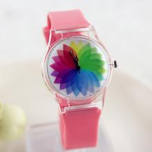 Transparent Jelly Watch Quartz Watch Cartoon Dial Watch