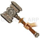 Realistic PU foam War Hammer for LARP World of Warcraft