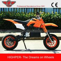 Most Popular New Model Electric Motorcycle Mini Pocket Bike Mini Dirt Bike For Sale Cheap (HP110E-A)