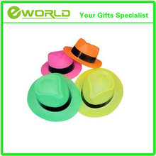 Promotional best price Neon Color Plastic Gangster Hats