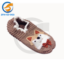 Good price knitted animal sock with cute fox face