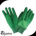 verde srsafety interlock guantes de látex de caucho