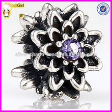 925 sterling silver flower bead stopper