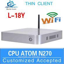 Hot sale Mini pc 12v Cheap desktop pc Home server L18Y N270support win 7 XP system