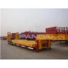 side wall lowbed semi trailer with parabolic leaf spring for bulk cargo(step-wise or flatbed platform optional)
