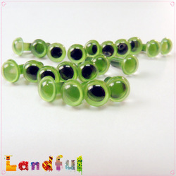 6mm Green Safety Eyes Craft Toy Colorful Eyes Plastic Small Doll Eyes