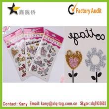 2015 Popular temporary glitter tattoo sticker, flash tattoo gold