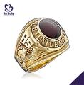 Bs de graduación de la universidad de recuerdos venta al por mayor chino oro anillos