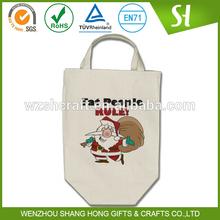 SH Cotton shopping bag ,funny christmas grocery tote bag