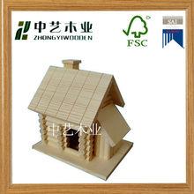 2014 hot selling indoor handmade wooden bird house
