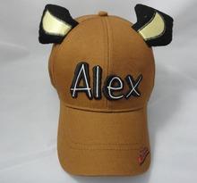 3d embroidery Alex baseball cap custom ear baseball cap Outdoor hat