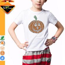 White comfortable cotton popular boy's t-shirt