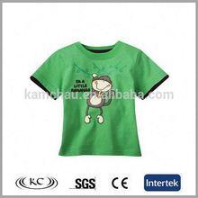 high quality popular green print children t shirt