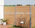 Madeira plástica fence/recinto da parede 1. 8m/2. 0m