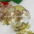 100 venta al por mayor de vidrio transparente bola de navidad con adornos de estrellas