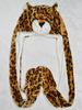 plush panther animal hug hats with long scarf