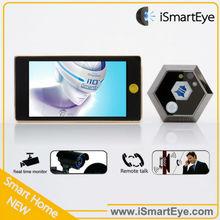 Video Door Bell Intercom Camera with Tft Touch Screen Smart Watch Mobile Phone