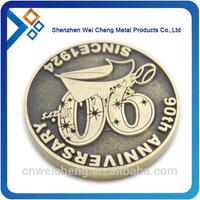 silver coin replica