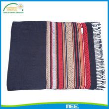 black style tassel stripe shawls
