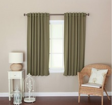 solid color brushed windows curtain fabric