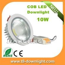 High power 10 watt ac85-265v pure white 4000k recessed downlight led downlight cob light