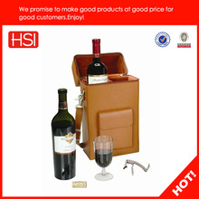 luxury leather wine carrier, leather wine carrier,2 bottles leather wine carrier