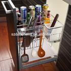 kitchen accessory stainless steel kitchen drawer basket spice basket
